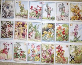 fabric panel Alphabet , ABC Flower Fairy Fairies from Michael Miller