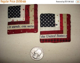 20% off thru 7/10 Miniature log cabin USA Flag pin Patriotic