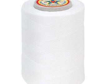 20% off thru 7/10 Star Machine Quilting sewing & Craft Thread- all Cotton-PURE WHITE-number 1