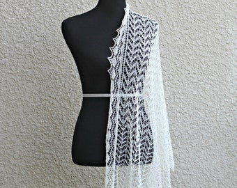Wedding shawl, lace stole, knit wedding shawl, lace wedding shawl, bridal shawl, gift for her