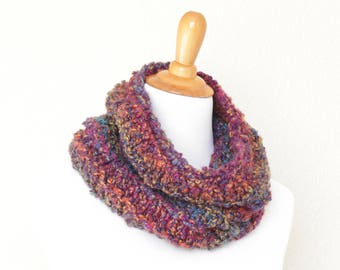 Knit cowl, chunky cowl, knit scarf, loop scarf, infinity scarf, chunky scarf, Nebula scarf, chunky neckwarmer