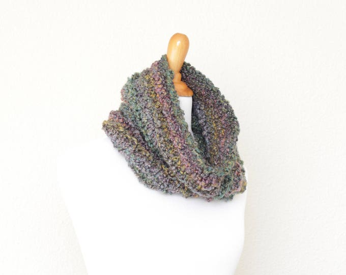 Knit cowl, chunky cowl, knit scarf, loop scarf, infinity scarf, chunky scarf, Mermaid scarf, chunky neckwarmer