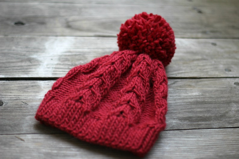 c45f7e674e3 Knit hat knitted hat women hat red hat women hat cable