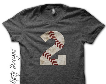 Baseball Number Iron on Transfer - Iron on Custom Baseball Shirt / Baseball Mom Tshirt / Baseball Birthday Party / Moms Tball Shirt IT421