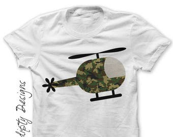 Helicopter Iron on Transfer Helicopter Shirt Adult Kids Army Tshirt Military Birthday Party Iron on Digital File PDF Transportation IT381