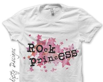 Rock Princess Iron on Transfer - Rock Star Iron on Shirt PDF / Rock and Roll Birthday / Kids Girls Clothing Tops / Rock Baby Shower IT172