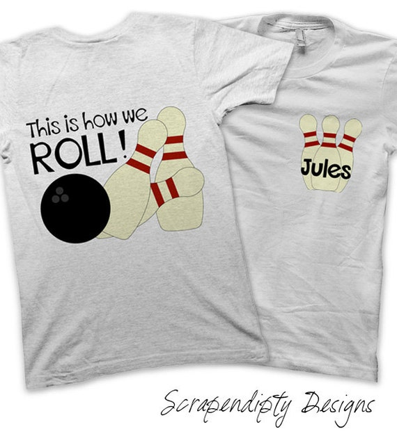 Bowling Party Pack Iron On Transfer Personalized