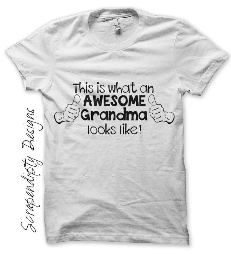 Grandma Iron on Transfer Iron on New Grandparent Shirt What image 0