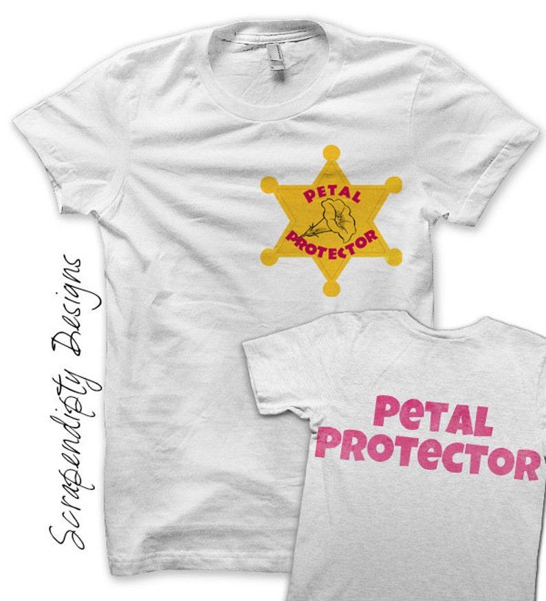 Flower Girl Iron on Transfer Iron on Petal Protector Shirt image 0