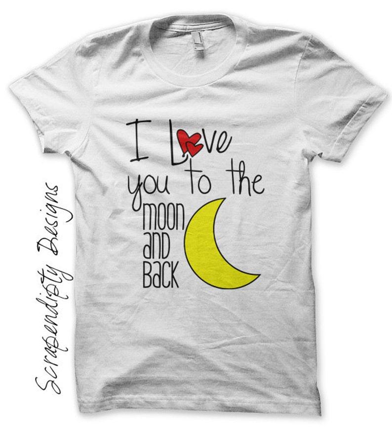 Iron on Moon Shirt Nursery Iron on Transfer  Love You to the image 0