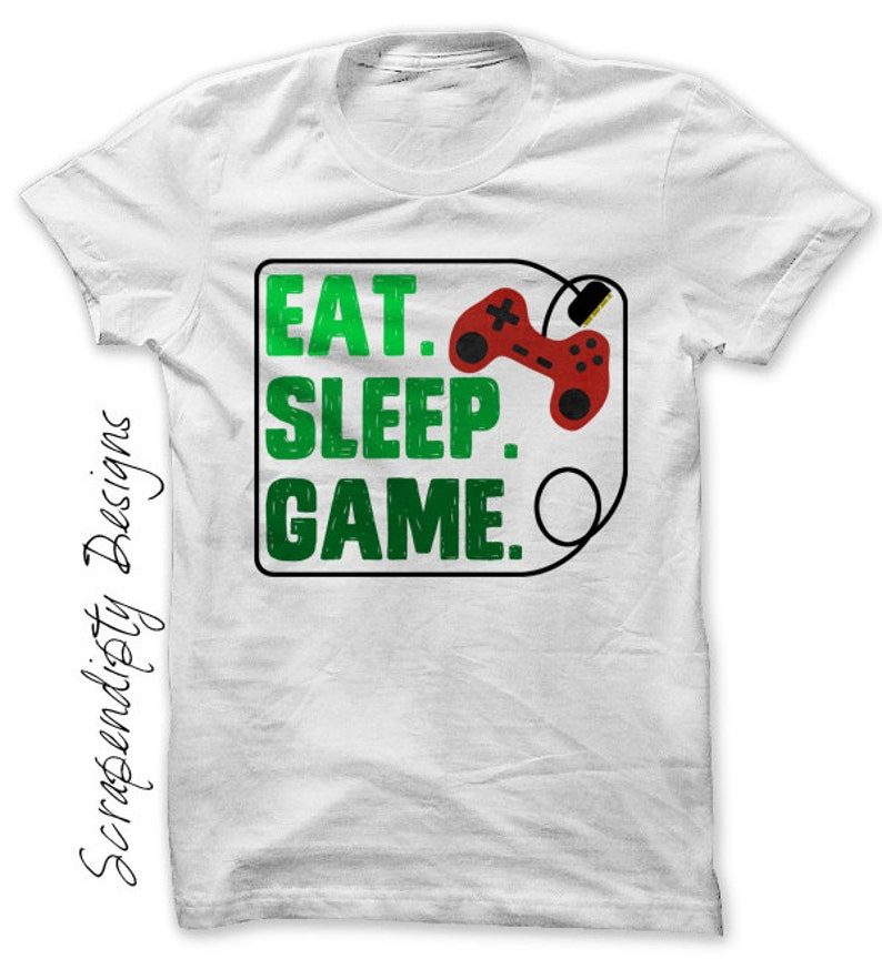 Gaming Iron on Transfer Iron on Eat Sleep Game Shirt Mens image 0