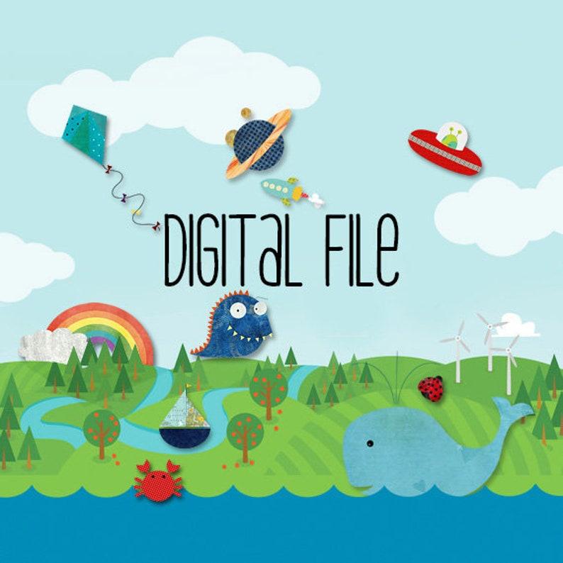 PDF Digital Files Printable Iron on Transfer Applique image 0