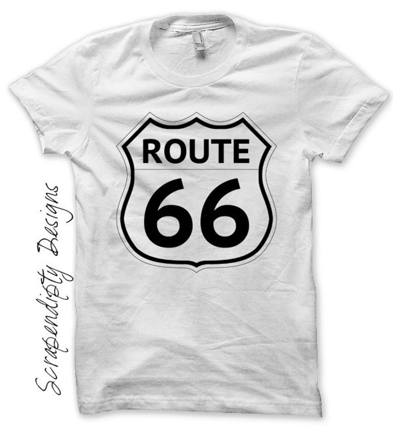 Iron on Route 66 Shirt Road Trip Iron on Transfer image 0