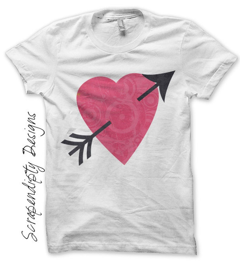 Valentines Day Iron on Transfer  Heart Iron on Shirt / Kids image 0