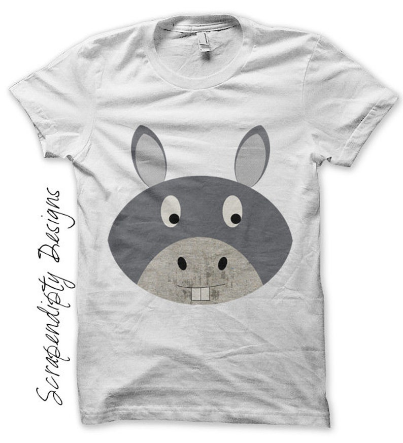 Iron on Donkey Shirt Farm Iron on Transfer Tee Kids Donkey image 0