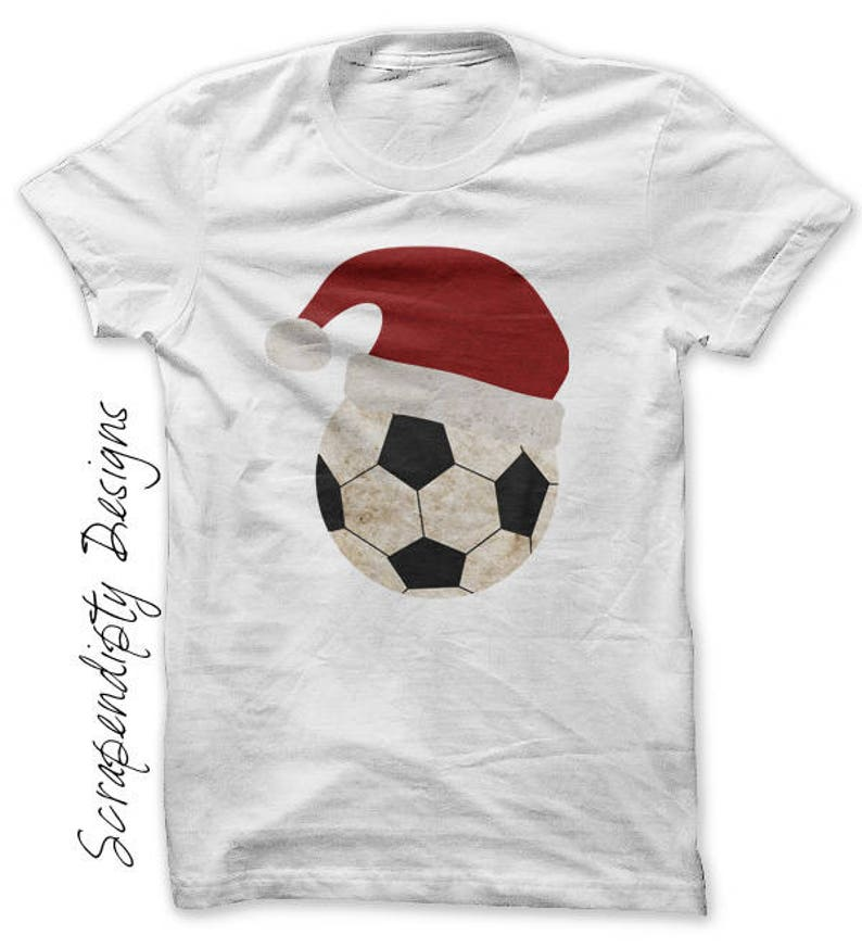 Christmas Iron on Transfer Iron on Santa Hat Shirt Toddler image 0