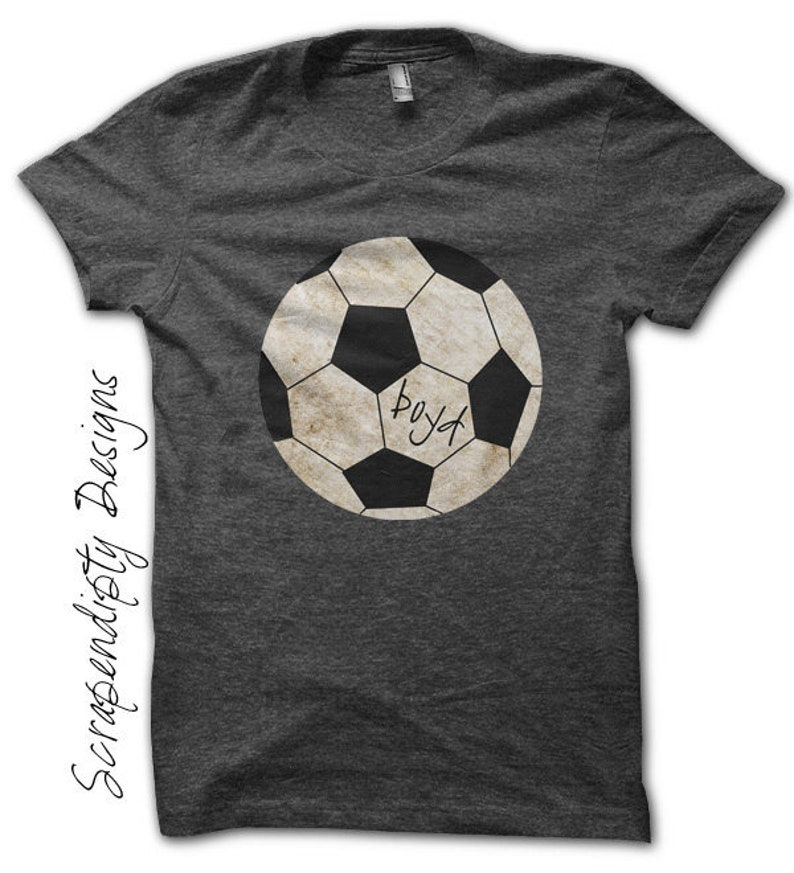 Soccer Iron on Transfer  Iron on Sports Shirt PDF / Kids image 0