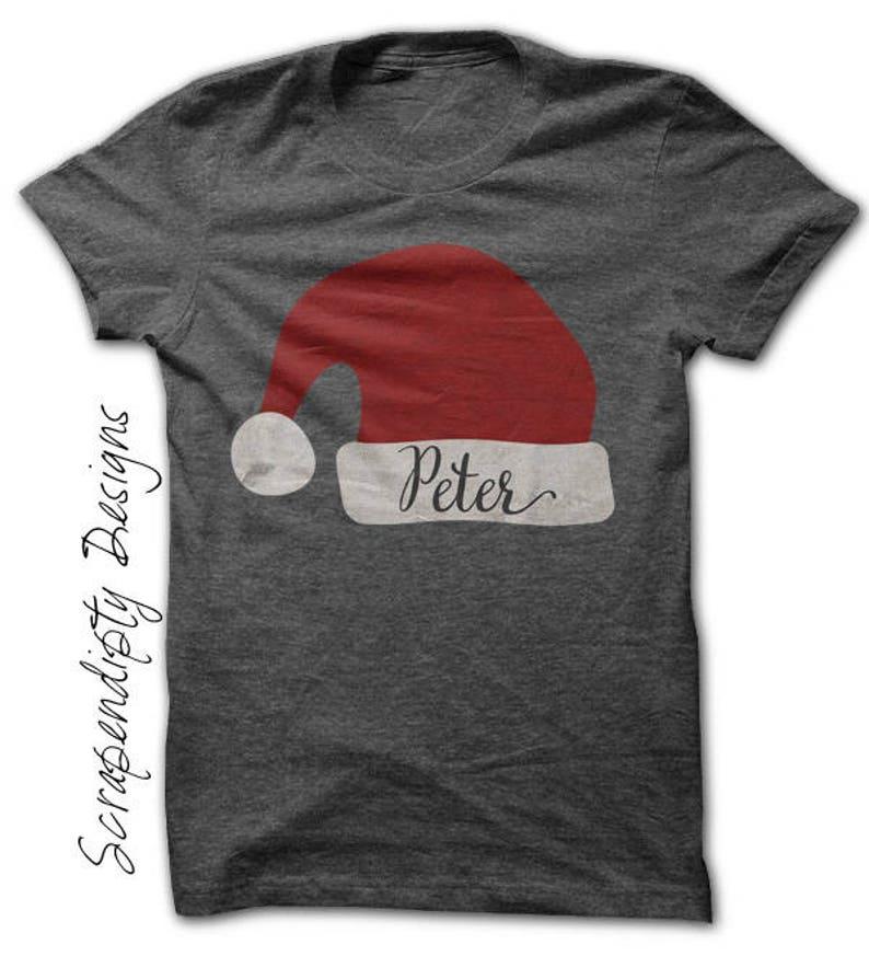 Christmas Iron on Transfer Iron on Santa Hat Shirt Christmas image 0