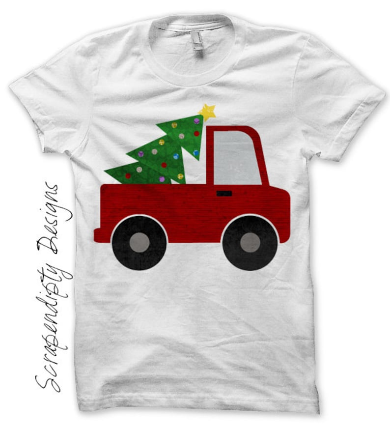 2fbcffada46a4 Christmas Outfit Iron on Transfer Iron on Truck Shirt / | Etsy