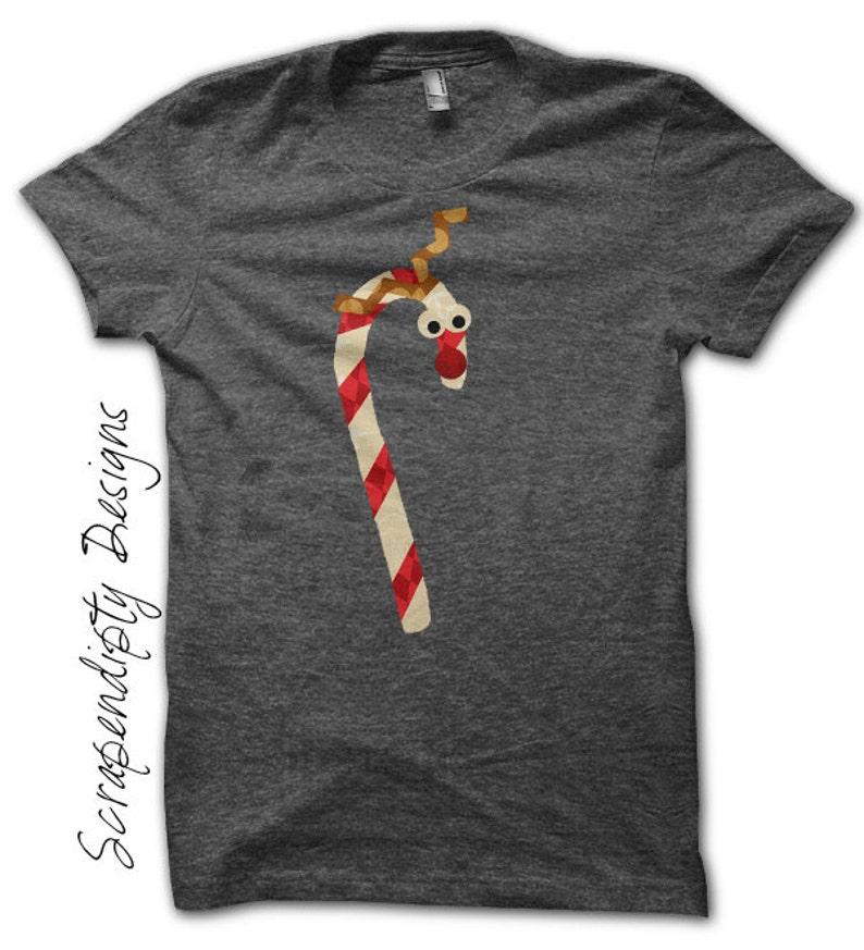Reindeer Iron on Transfer Christmas Shirt Design Christmas image 0