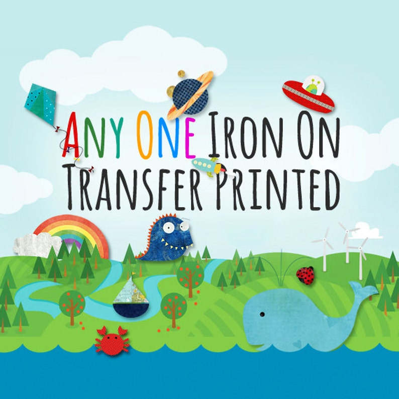 Any One Iron on Transfer Printed and Mailed  For light image 0