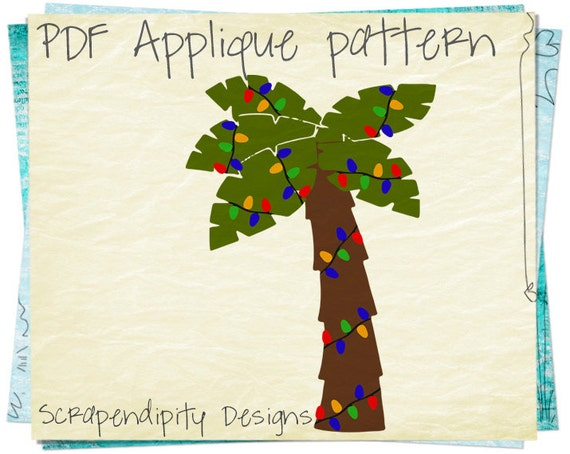 Christmas Applique Template Palm Tree Applique Pattern