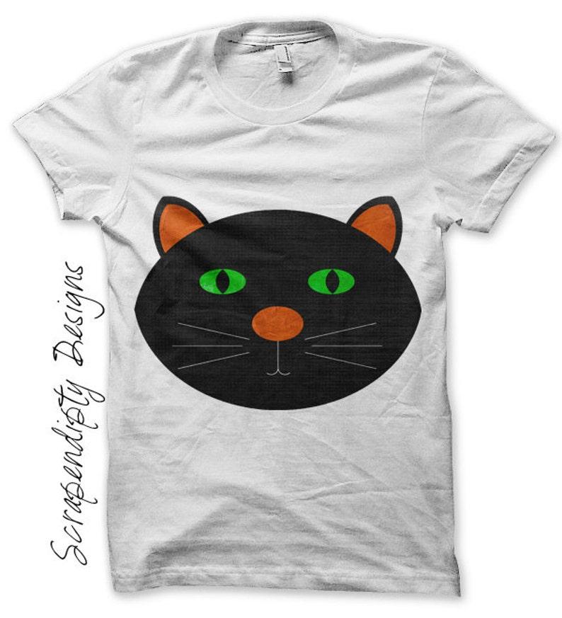 Black Cat Iron on Transfer  Iron on Kids Shirt / Baby image 0