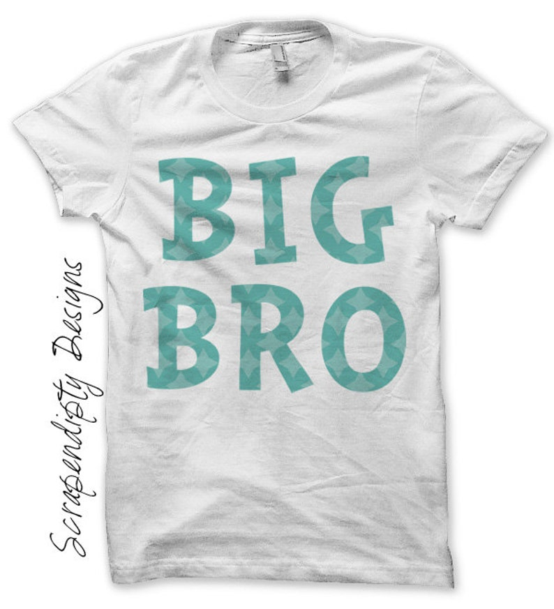 Brother Iron on Transfer Birth Announcement Iron on Shirt image 0