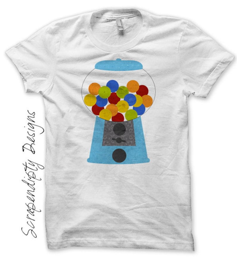 Gum ball Iron on Transfer Iron on Candy Shirt Gumball image 0