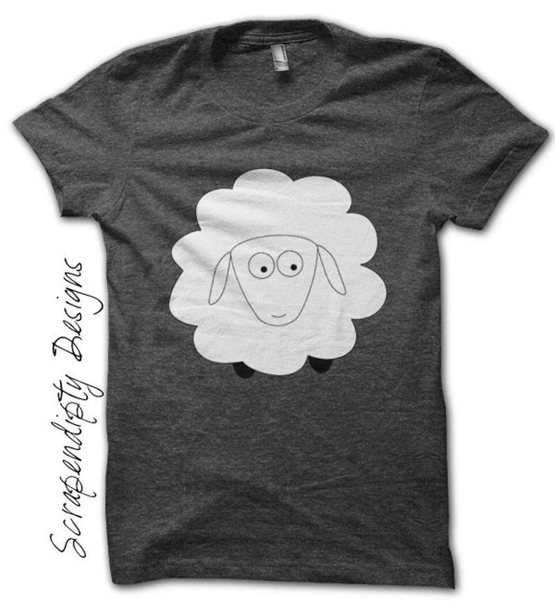 Sheep Iron on Shirt Farm Iron on Transfer Kids Boys Clothing image 0