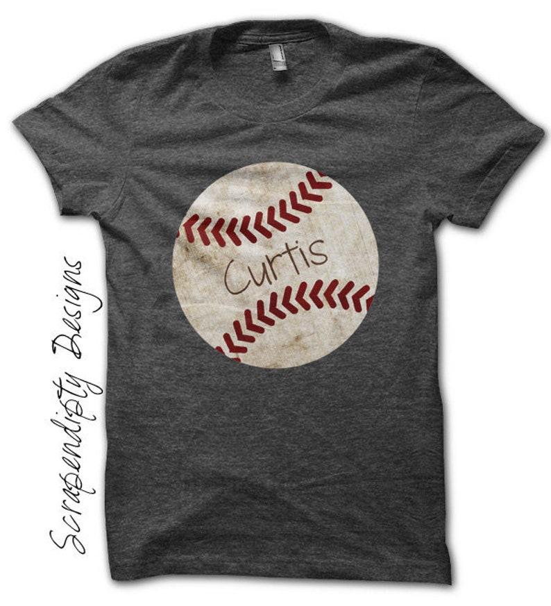 Iron on Baseball Shirt  Sports Iron on Transfer / Customized image 0