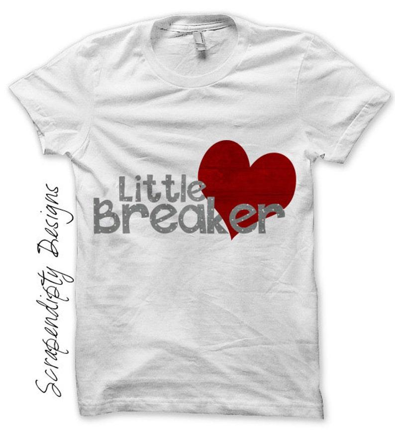 Iron on Heart Breaker Shirt Boys Iron on Transfer Boys image 0