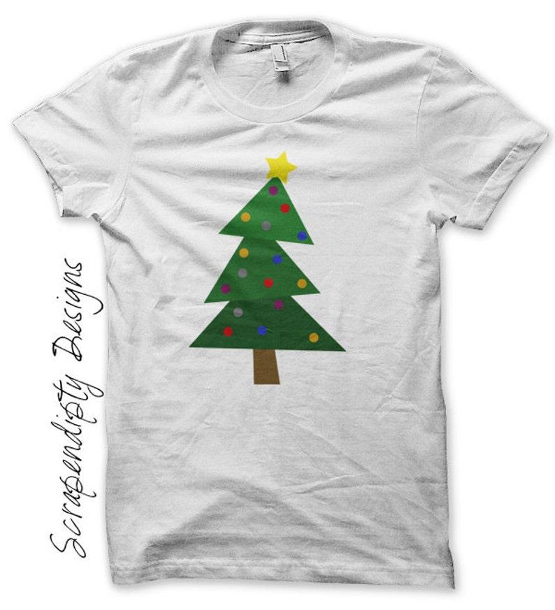 Christmas Tree Iron on Shirt Christmas Iron on Transfer image 0