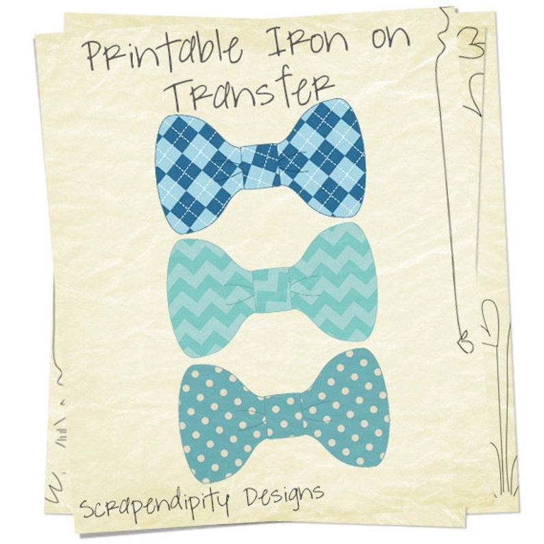 ec2e87ecab1f4 Bow Tie Iron on Transfer - Boys Iron on Shirt PDF / Ring Bearer Wedding  Shirt / Baby Blue Bowtie Shirt / Toddler Chevron Bow Tie Shirt IT193