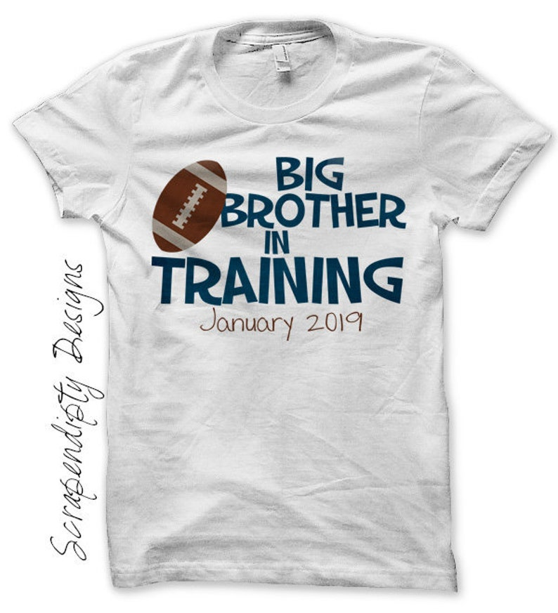 Big Brother in Training Shirt Pregnancy Announcement Iron on image 0