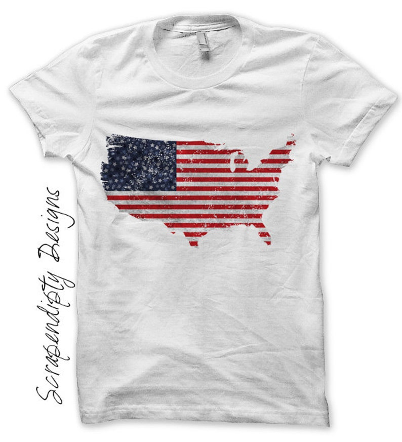USA Iron on Transfer  Iron on Fourth of July Shirt / 4th of image 0