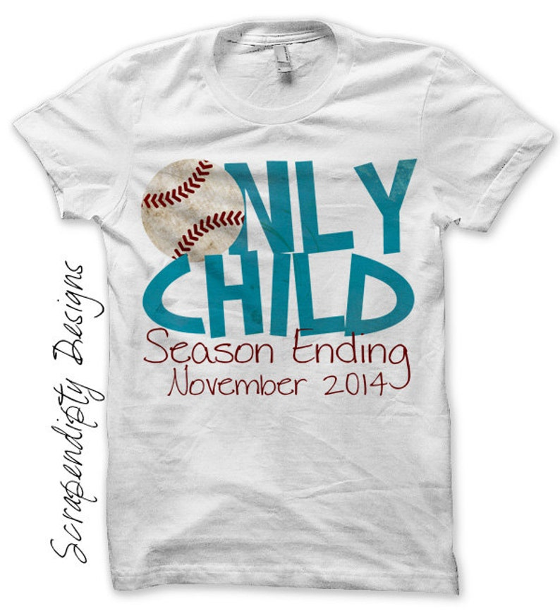 Iron on Only Child Shirt PDF  Announcement Iron on Transfer / image 0