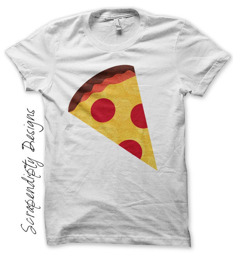 Pizza Iron on Shirt Food Iron on Transfer Kids Pizza Party image 0