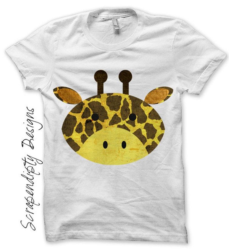Giraffe Iron on Transfer  Animal Iron on Shirt PDF / Giraffe image 0