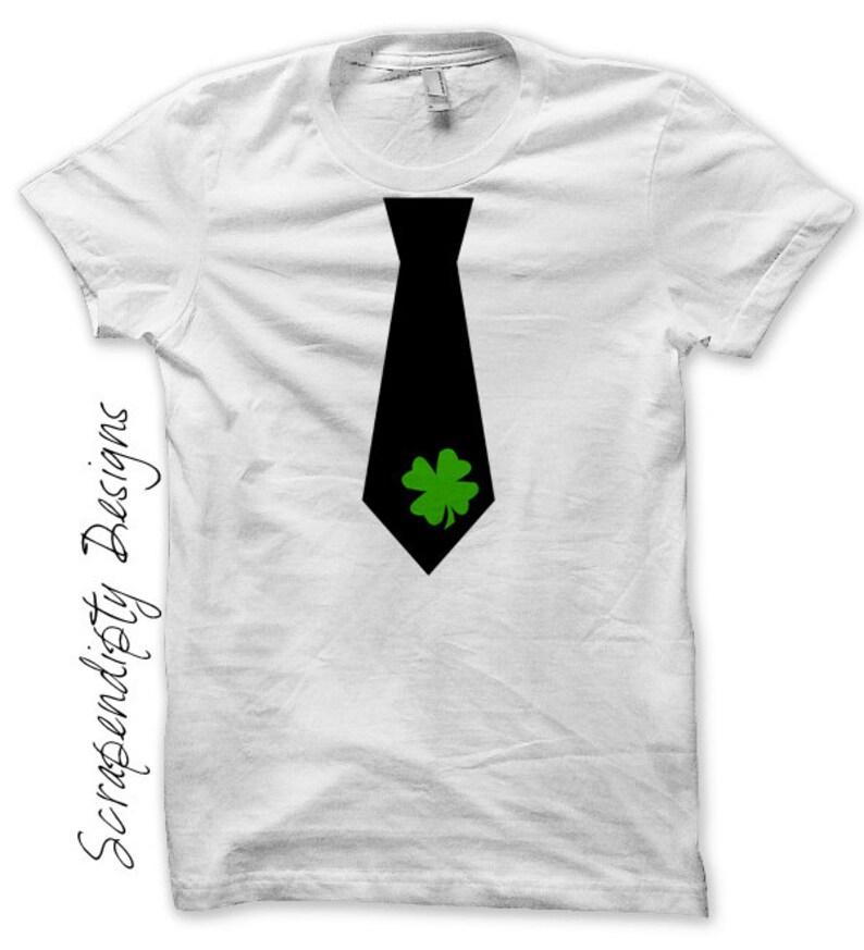 Iron on Shamrock Tie Shirt PDF  St. Patricks Day Iron on image 0