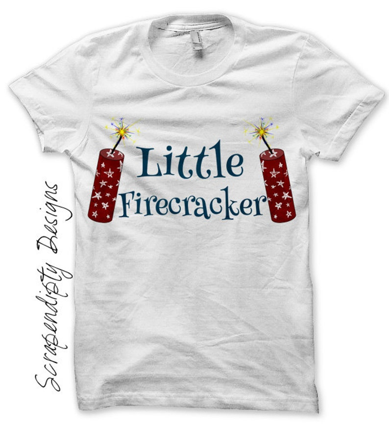 Iron on Firecracker Shirt PDF  Fourth of July Iron on image 0