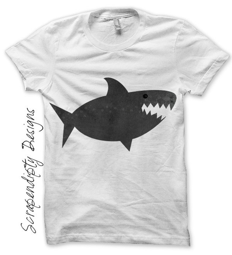 Shark Iron on Transfer Ocean Iron on Shirt DIY Shark Shirt image 0