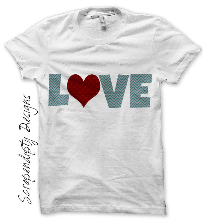 Love Iron on Transfer Iron on Boys Valentine Shirt Toddler image 0