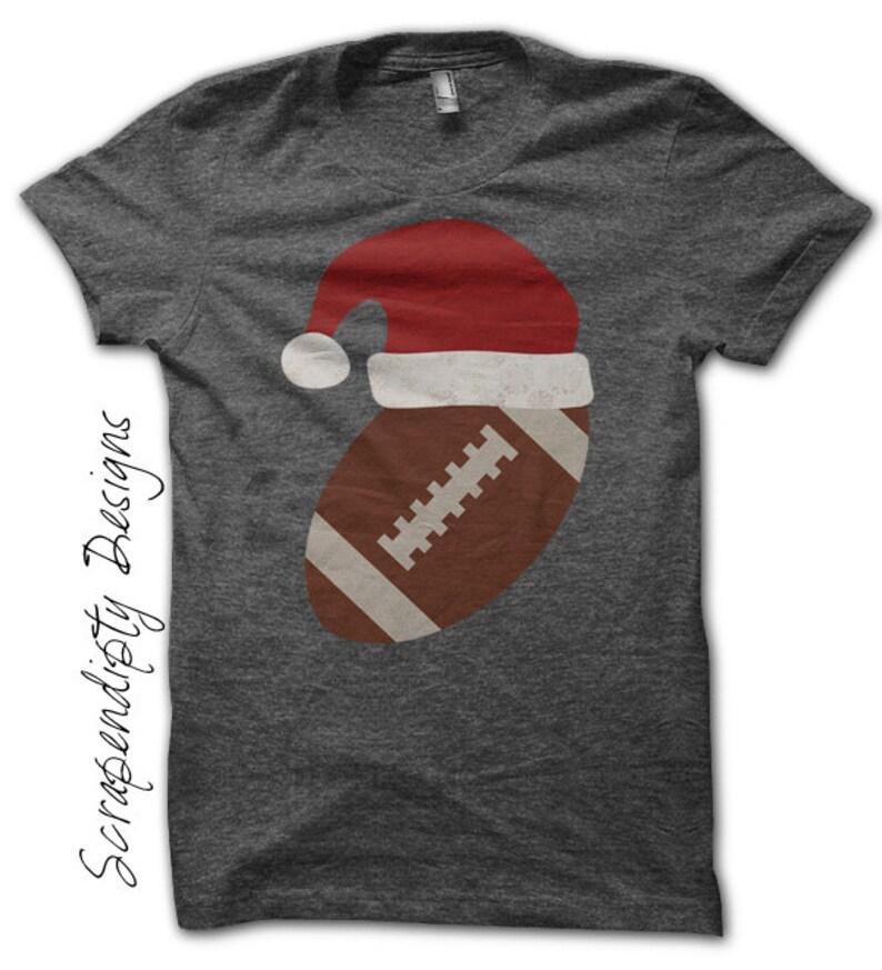 Iron on Football Shirt Santa Hat Iron on Transfer Christmas image 0
