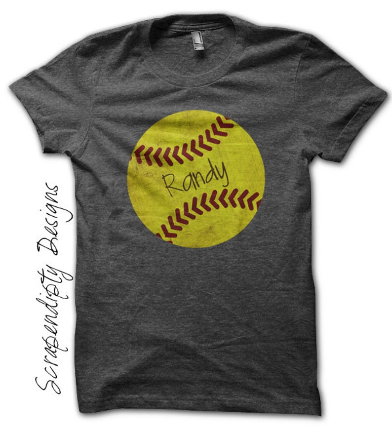 Iron on Softball Shirt  Sports Birthday Iron on Transfer / image 0