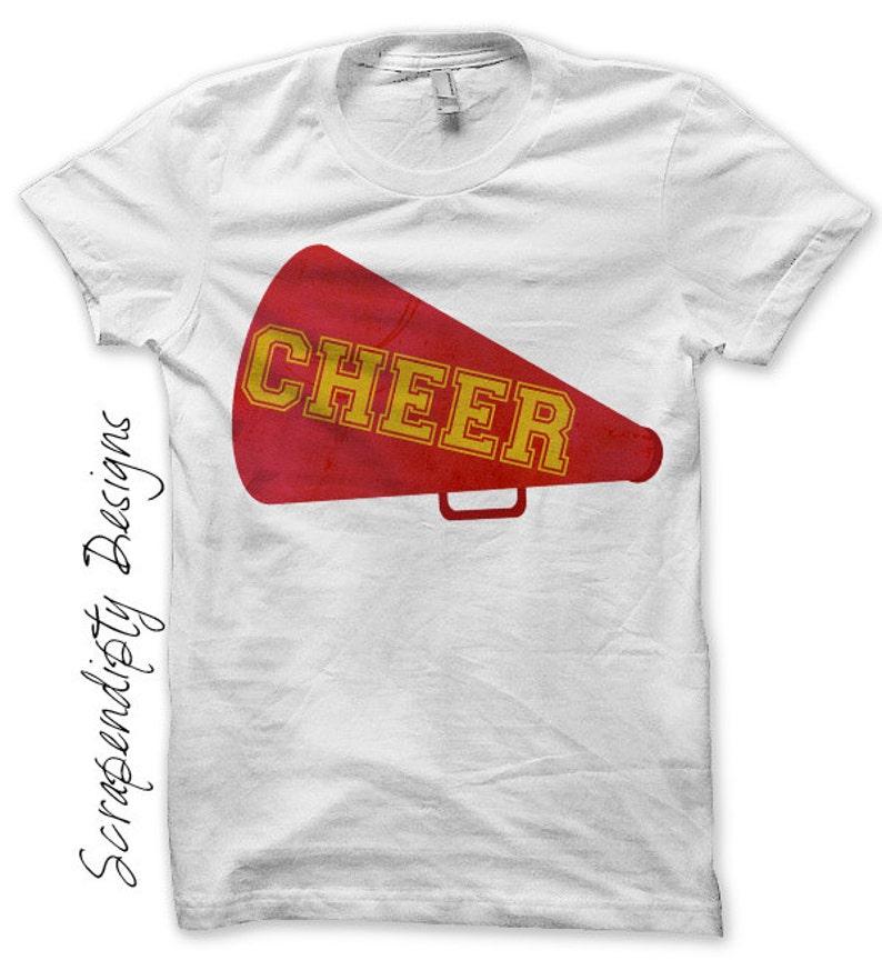 Cheer Megaphone Iron on Transfer Iron on Cheerleading Shirt image 0