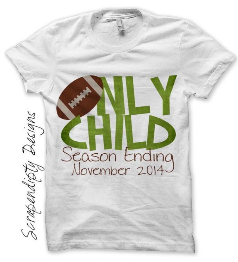 Football Iron on Transfer Iron on Only Child Shirt Football image 0