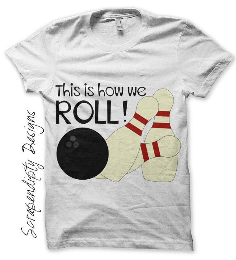 Bowling Iron on Shirt PDF  Sports Iron on Transfer / Kids image 0