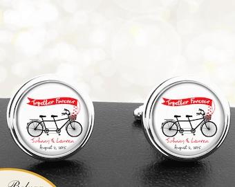 Vintage Bike Cufflinks Groomsmen Wedding Party Fathers Dads Men