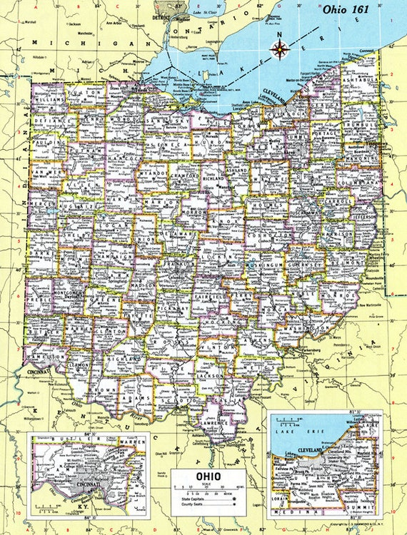 Ohio Map Bracelet Sandusky Port Clinton Lakeside Oh Charm Etsy
